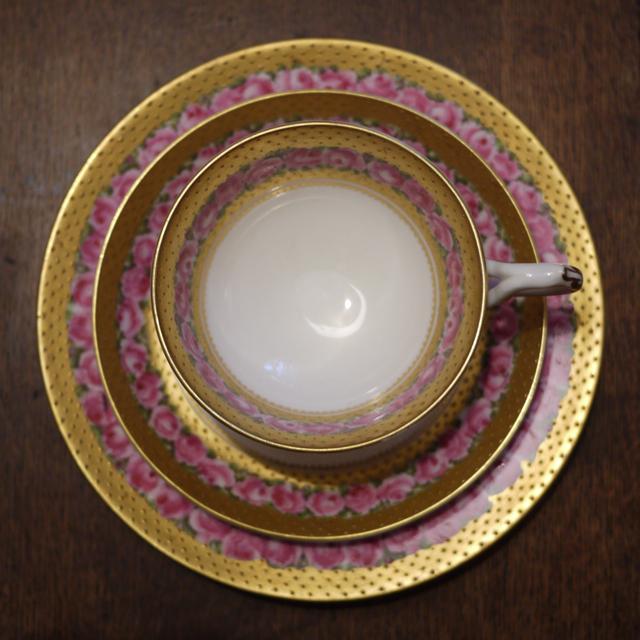 Tea cup, saucer, plate